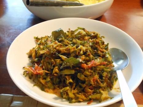 Dambala (wing bean) dry curry