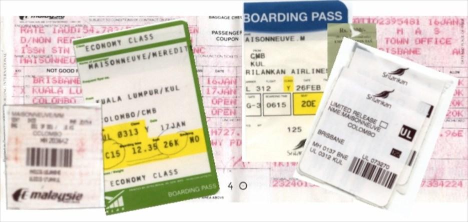 A ticket back home to Sri Lanka ...