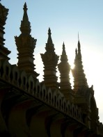 Begun in 1566 on the site of a former Khmer temple, Pha That Luang is 'the Great Temple' of Lao.