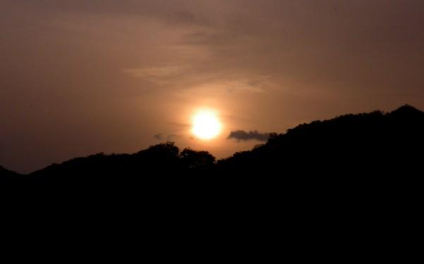 A copper sunrise