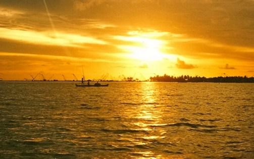 Backwaters Sunset - Golden
