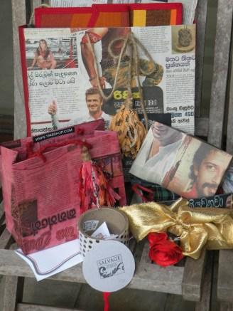 Bags, boxes, ribbons, roses and tassles ...