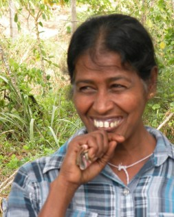 I met this shy young woman and her mother on the way to Anuradhapura.