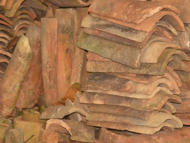 A Pile of Roof Tiles