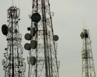 Spikey Telecommunications Towers