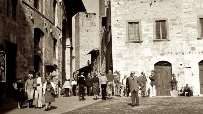 After Mass, Sunday Morning - San Gimignano