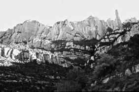 The White Rock Ridges of Montserrat.