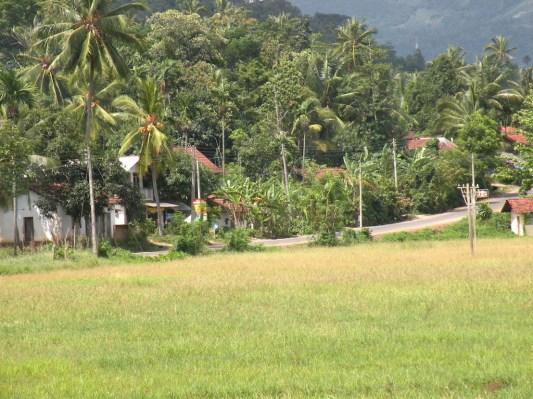A steep hill, a bend, a village