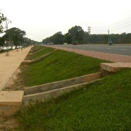 Japan Friendship Road designed for tropical deluges