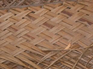 The woven pattern of coconut kadjan