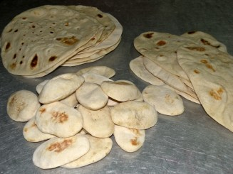 My particular favourite is the half pita - just perfect for a lunch sandwich pocket.