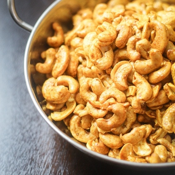 Curry Roasted Cashews The Wanderlust Kitchen