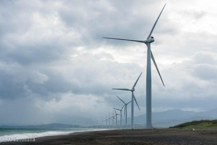 Wind turbines in Bangui Bay