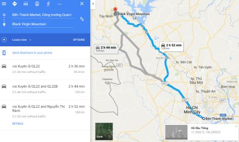 Route to Black Virgin Mountain