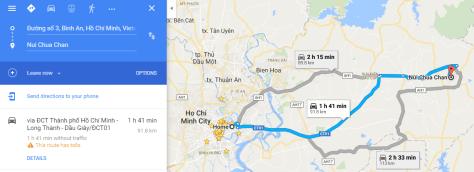 Route 2 - Shorter route to Chua Chan Mountain
