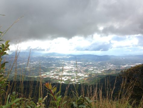 View of Dalat City from Lang Biang Peak