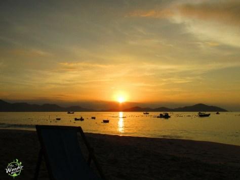 Sunrise at Dao Hoa Vang resort