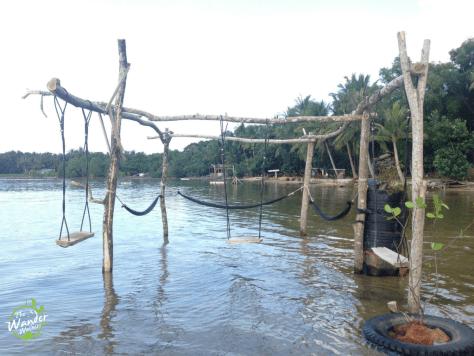 Swings by the sea