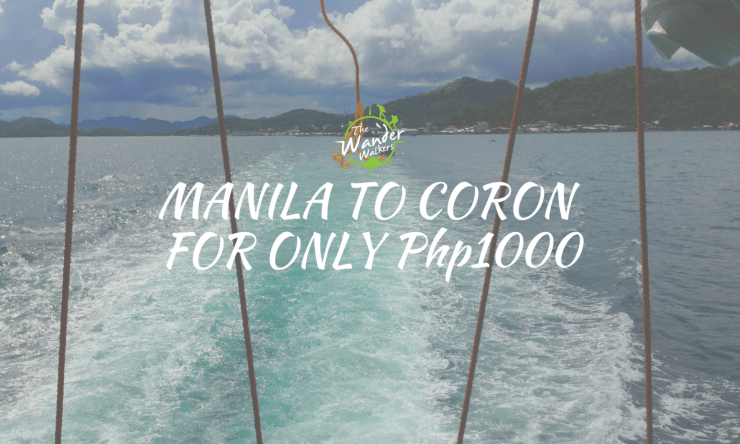 Cheap Manila – Coron Transfer For Only Php1,000 ($20)