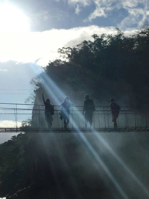Minalungao National Park Hanging bridge. Cool shot by our tour guide, yes?