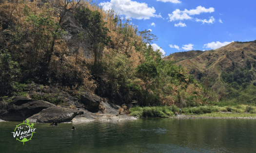 The river just 10 minutes away from Baawan falls.