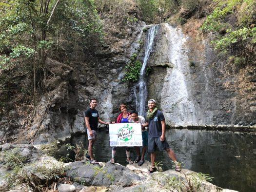Leaving baawan falls