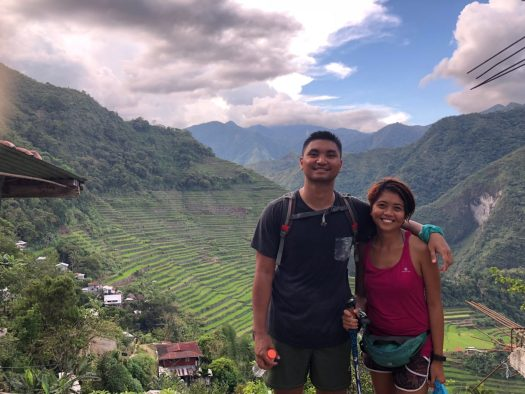 I and my friend Paul after conquering Batad's trekking trails