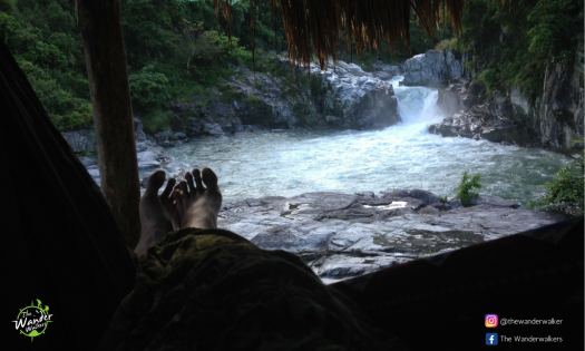 Waking up to the view and sound of Kili falls