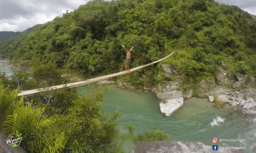 This hanging bridge is just so inviting!