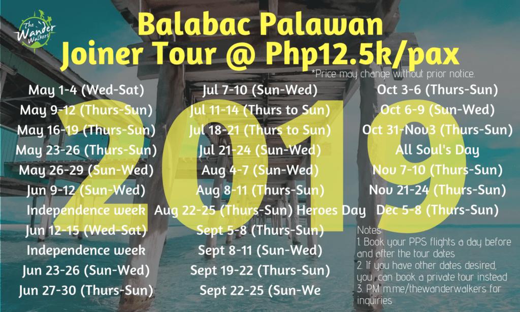 Balabac Palawan Schedule 2019