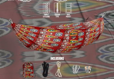 Lazy Hitchhiker hammock Trippy Arrow design