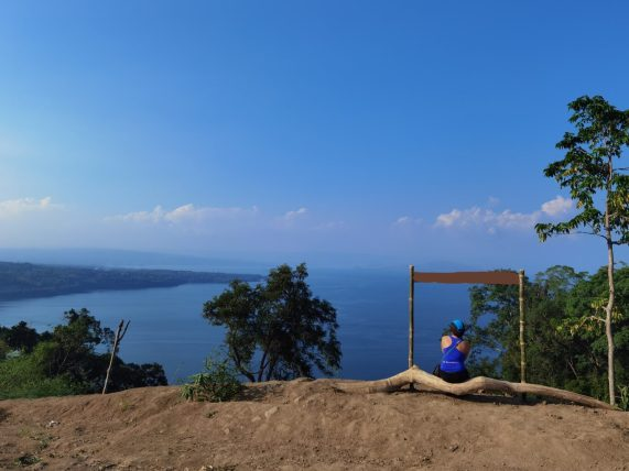 A viewpoint of Taal Lake and Taal Volcano