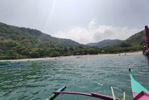Arriving at Kaynipa Cove. So happy to see an uncrowded beach near the Metro!