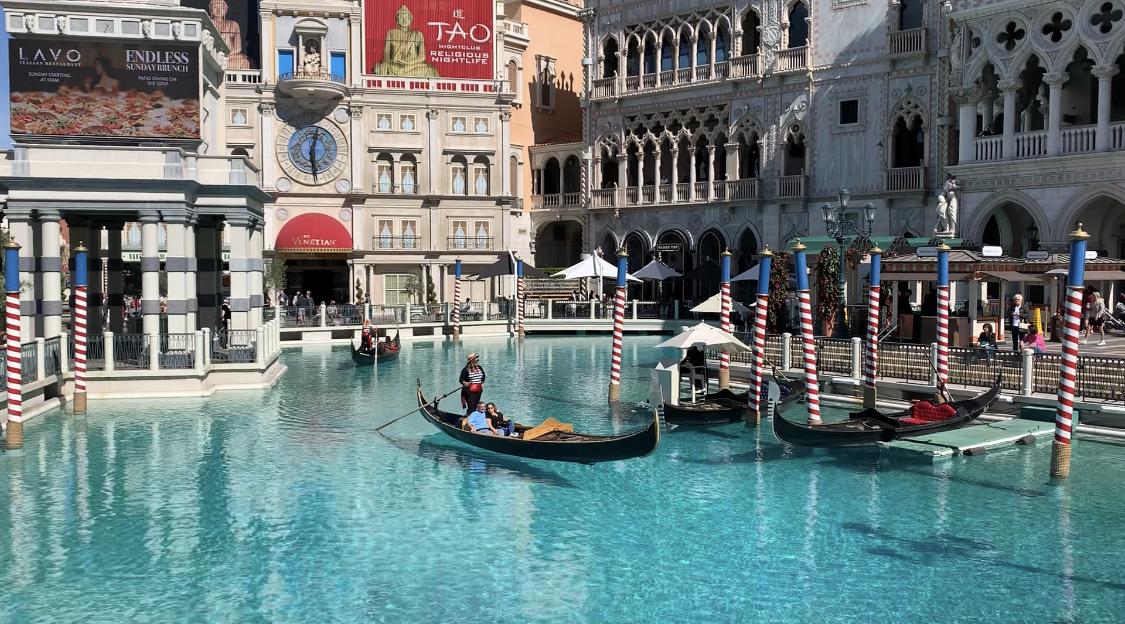 Venetian Hotel outdoor gondola ride