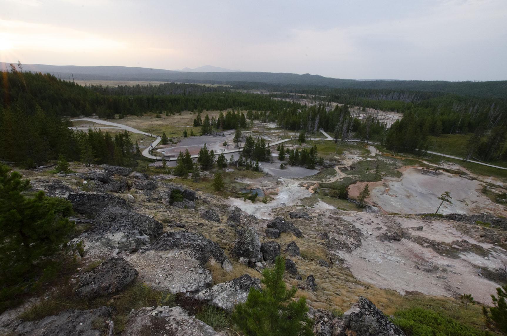 Artist Pain Pots Trail Yellowstone