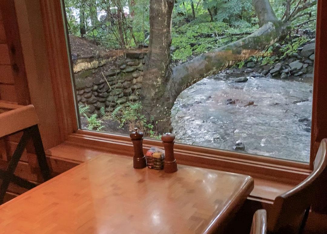Peddler Steakhouse Gatlinburg Tennessee Window Table
