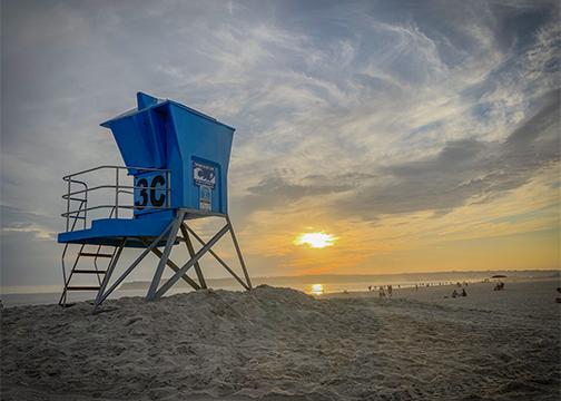Coronado Beach Life Guard Stand