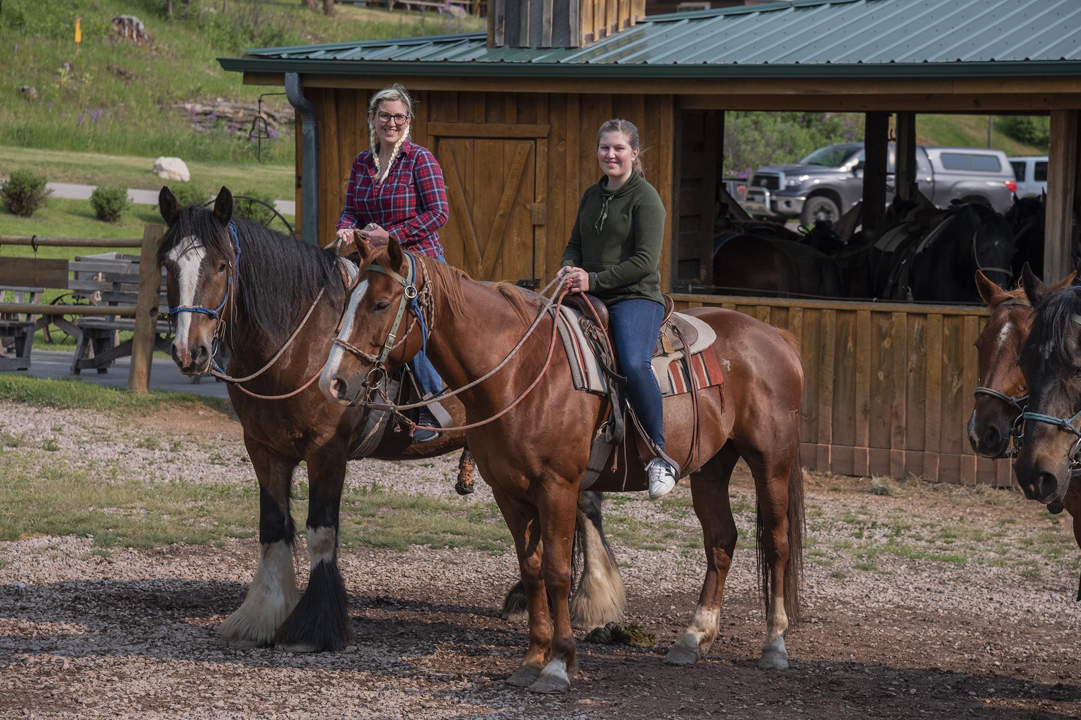 Christina Emilie Palmer Gulch Stables KOA horseback riding
