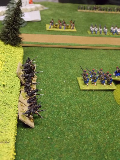 04. Austrian Jaegers fire on the French flank