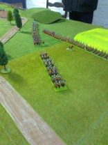 007 Hanoverian infantry and cavalry heading for Langenbruck