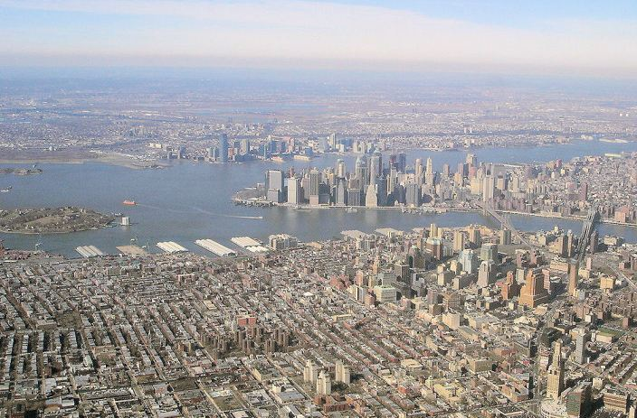 Nothing is uglier than NYC from the air, because there's no other city that's so relentlessly, monotonously gridded.