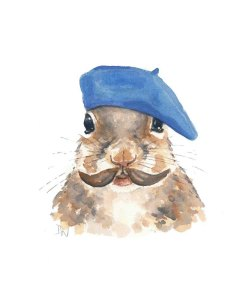I was looking for snooty pictures (to illustrate the average Mac user) and I found this one of a squirrel wearing a beret.