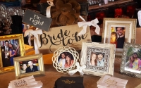 Bride Groom Photo Display