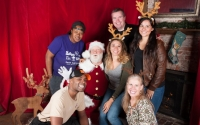 warren staff photo with santa