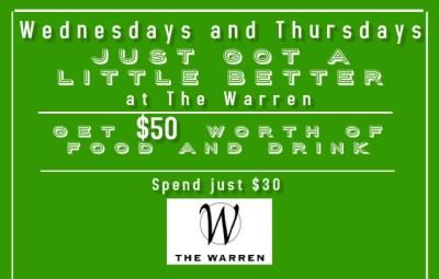 weekday deals