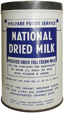 Image result for powdered milk in wartime Britain