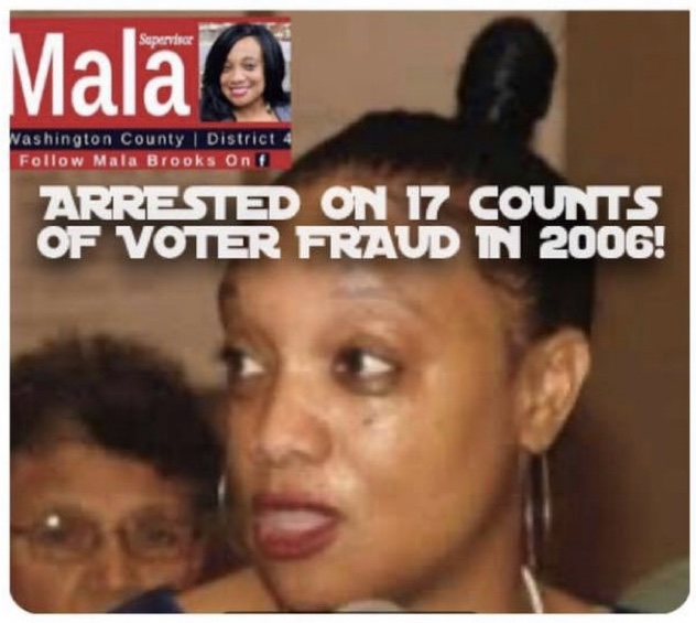 Washington County Board Od Supervisors Member Mala Brooks Was Arrested In 2006 On 17 Counts Of Fraud!