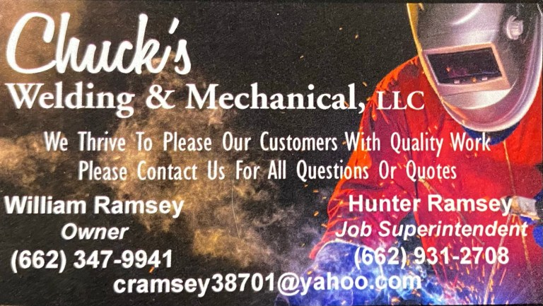 Chuck's Welding & Mechanical, LLC Joins The Washington County Auditor's Advertising Family