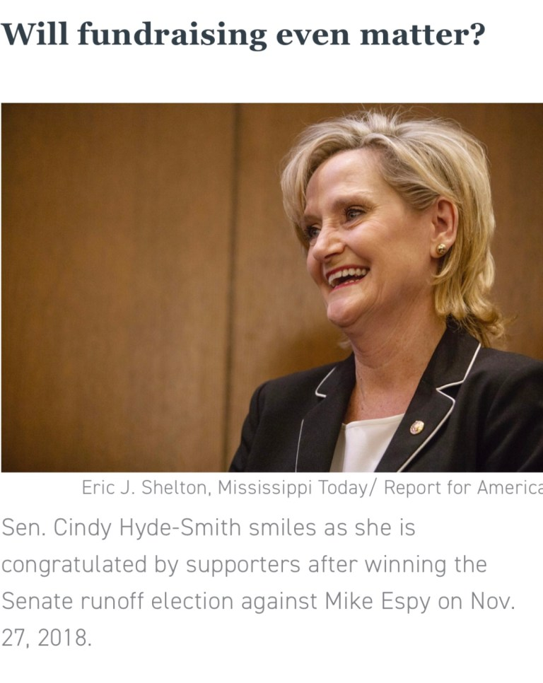 Mississippitoday.org  Issues Anonymously Sourced Article Critical Of Mississippi Senator Cindy Hyde Smith Days Before Election.