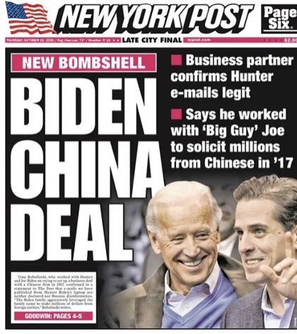 Cover Up Of Treasonous Crimes Committed By Joe Biden, Involving The Mainstream News Media, Continues.